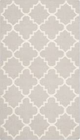 Safavieh | Handgeweven vloerkleed Darien 90 x 150 cm grijs, ivoor vloerkleden wol, katoen vloerkleden & woontextiel vloerkleden | NADUVI outlet