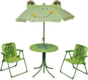 3-delige Bistroset voor kinderen met parasol groen