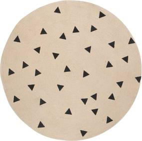 Ferm Living Black Triangles vloerkleed 130