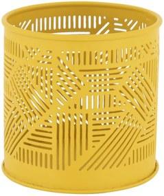 Sfeerlichthouder Ø9x8.5 - Metaal Geel (geel)