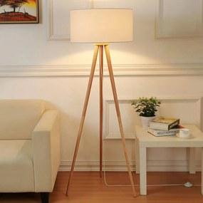 Driebenige stoffen vloerlamp Charlia - lampen-24