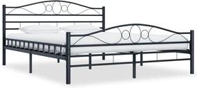 Bedframe staal zwart 140x200 cm