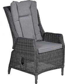 Marbella verstelbare stoel wicker licht grijs