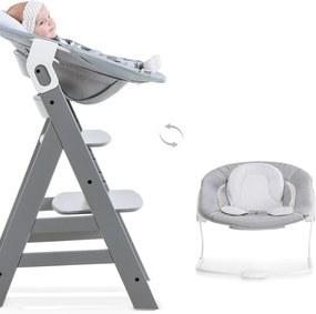 Kinderstoel Hauck Alpha+ Grey + Newborn Set Stretch Grey