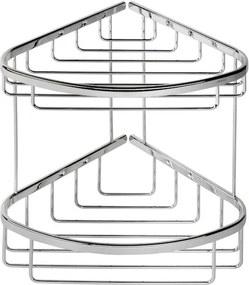Geesa Basket hoekkorf dubbel groot chroom 91183