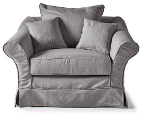 Rivièra Maison - Bond Street Love Seat, oxford weave, steel grey - Kleur: grijs