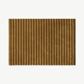 Raidal gestreept viscose vloerkleed, extra groot, 200 x 300 cm, karamel