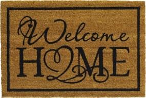 Deurmat Natural welcome home 40x60cm