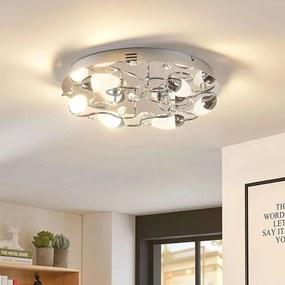 Dimbare LED plafondlamp Mischa, 6 lampen, rond