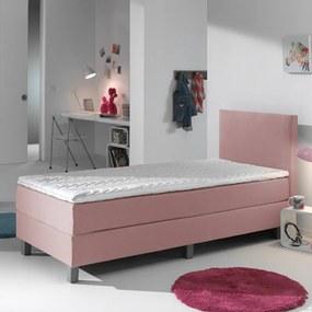 Primaviera Deluxe Kinderboxspring Comfort - Roze 90 x 200 cm, Topper: Standaard Comfortschuim, Montage: Exclusief montage