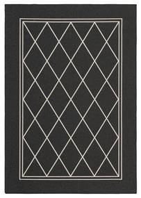Rivièra Maison - Cordoba Outdoor Rug 300x200 - Kleur: zwart