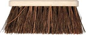 Bezem 28cm breed natuurvezel haren