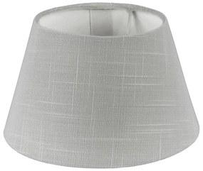 Lampenkap linnen - grijs - 18 cm