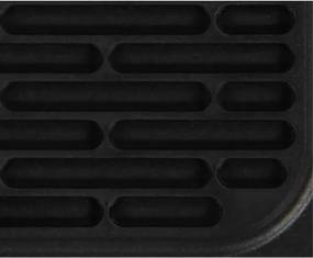 Pannenlap - 17 X 17 - Siliconen - Zwart (zwart)