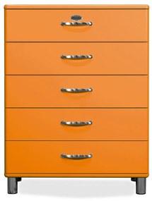 Tenzo Malibu Ladekast Hout Oranje - 86x41x111cm.