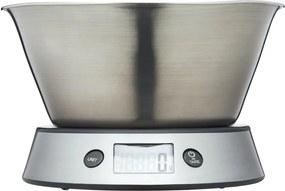 Keukenweegschaal 19,5 x 16 x 13,5 cm RVS zilver/zwart
