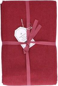 Tafelkleed, katoen, bordeaux rood, 145 x 250 cm