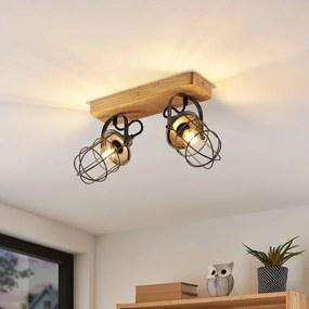Serima plafondlamp met twee kooikappen - lampen-24