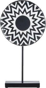 Beeld Nova - zwart - 50x26,5x8 cm - Leen Bakker
