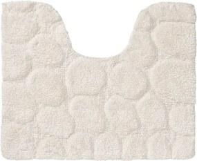 Toiletmat Antislip Sealskin Pebbles Katoen Ivoor 50x60cm