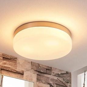 Witte plafondlamp Amilia met nikkel frame, IP44 - lampen-24