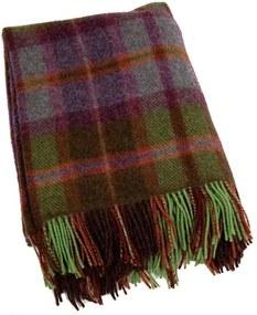 Plaid wol: groen, paars