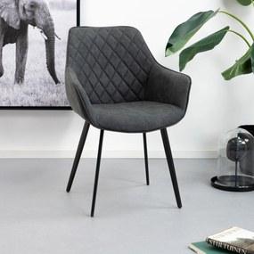 Kave Home Eetkamerstoel 'Amira', kleur zwart