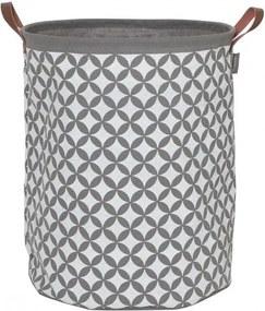 Wasmand Sealskin Diamond Katoen/Polyester Grijs 40x50cm