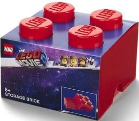 Opbergbox Lego Movie 2 brick 4 rood