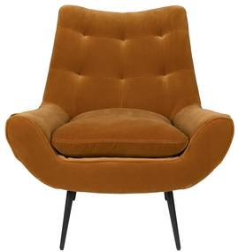 Dutchbone Glodis Lounge Fauteuil Velvet - Whiskey