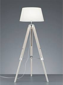Reality Vloerlamp Tripod - Hout - Wit