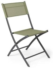 Vouwstoel - groen - 43x52x79 cm
