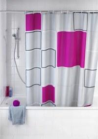 Wenko Douchegordijn polyester 180x200cm 100% polyester met anti schimmel behandeling 20056100