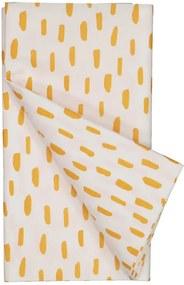 Tafelkleed 138x220 Wit/oranje