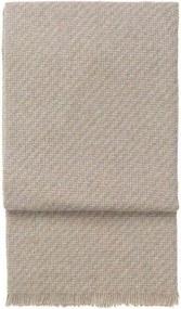 Plaid lijnen, diagonaal, beige, alpaca wol