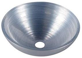 Waskom Sapho Murano Rond 40x14 cm Glas Zilver